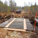 Brobygge  mellan Målingen och Ängersjö
