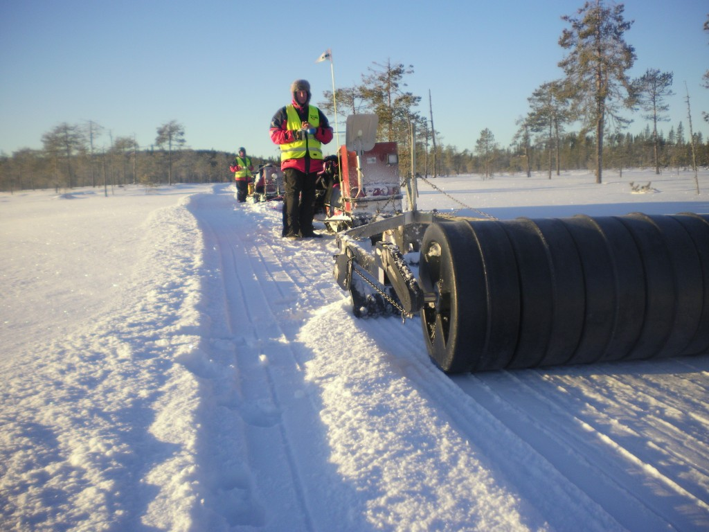 Sladdning till Ängersjö 20130112