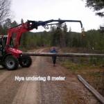 Bygge av ny bro vid Knätten