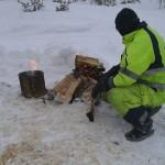 Arne skoterledsvakt under Härjedalsbrickan vid Hundsjön