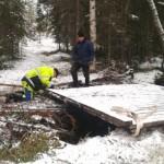 Bron på plats igen över Kvarnbäcken