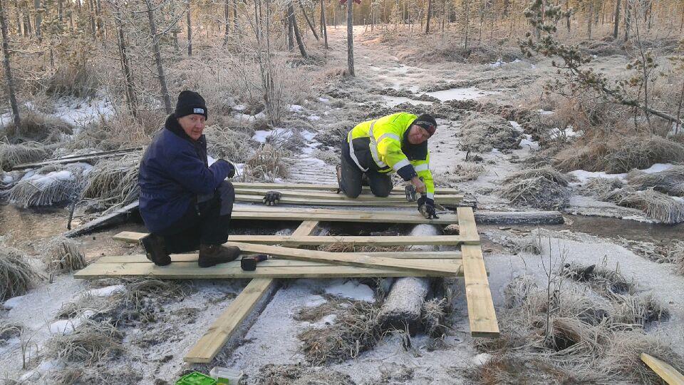 Reparation av bron över Prästbäcken vid Svegssjön