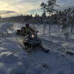 Gösta sladdar mellan Siksjön och Målingen