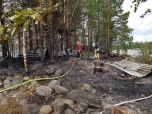 Vindskyddsbrand i Hundsjön